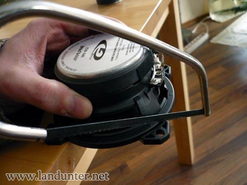 Lautsprecherhalter absägen